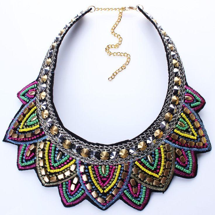 New Colorful Fashion Leaf Rhinestone Resin Short Women Collar Choker Necklace Statement Jewelry N25711