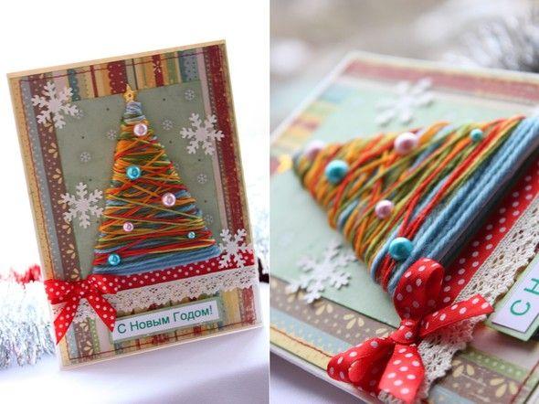 Творческая мастерская деда Мороза Новогодняя открытка своими руками технология поделки открытка Новый год бумага