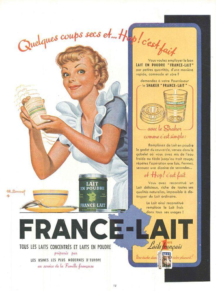 Quelques coups secs et...Hop c'est fait ! Laits concentrés et laits en poudre - France-Lait - Réalités n°75, avril 1952.