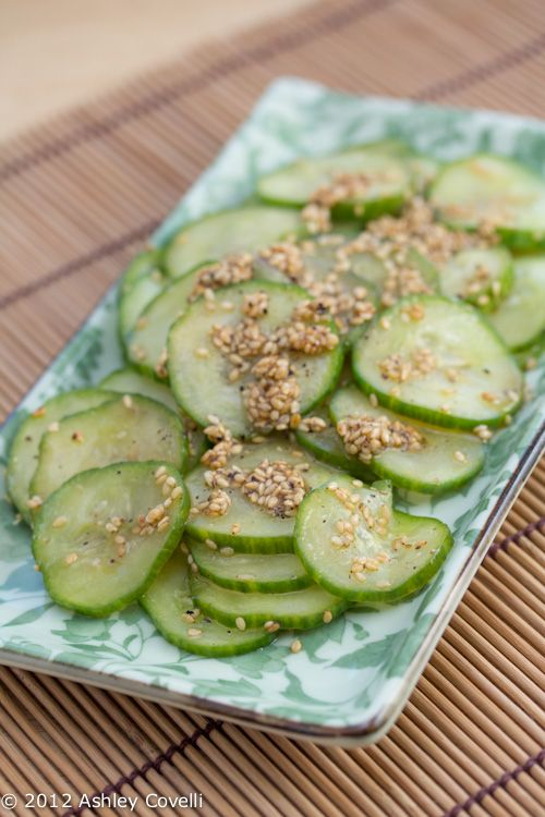 Big Flavors From A Tiny Kitchen: Korean BBQ Party: Oi Bokkum Namul (Seasoned Cucumbers with Sesame Seeds)