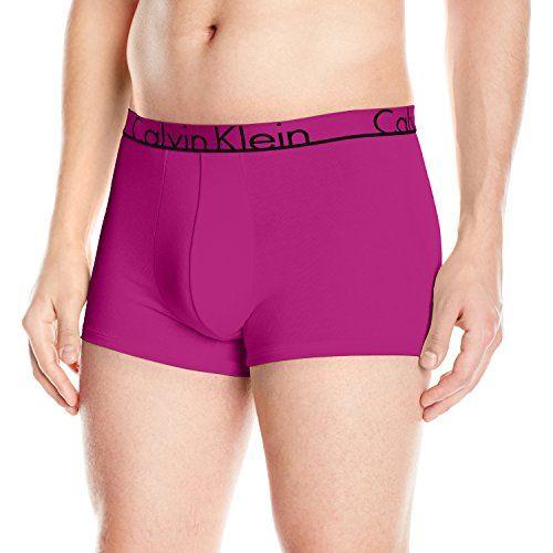 Calvin Klein Men's Underwear Id Cotton Trunk, Wild Pink, ... amazon.com