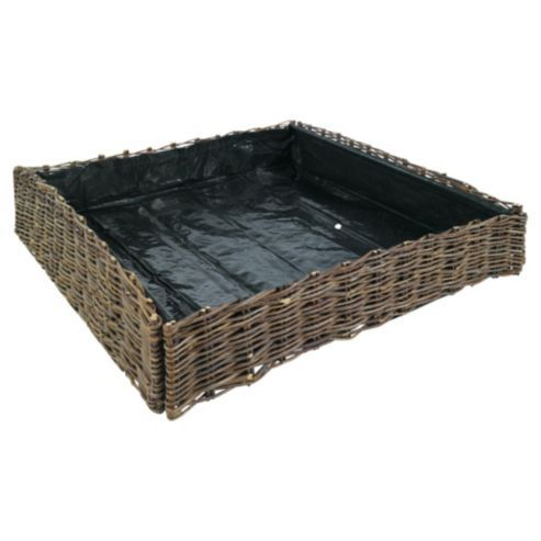 Buy Willow vegetable planter 75x75x15cm from our Planters range - Tesco.com
