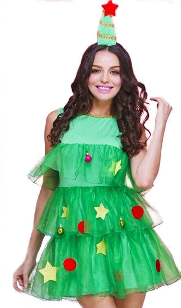 Amazon | クリスマス ツリー型 ワンピース コスチューム レディース | コスプレ・仮装 通販