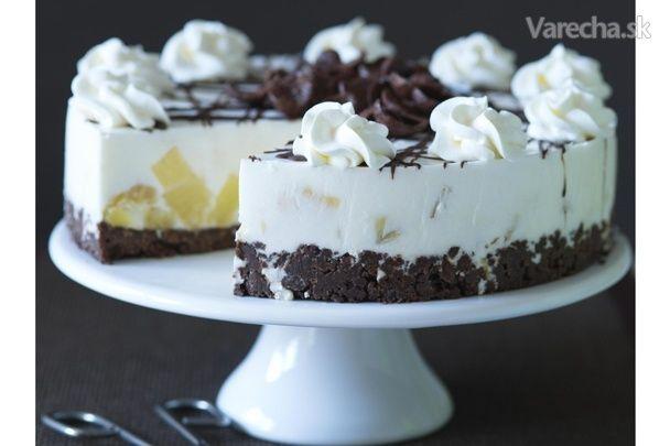 Čokoládovo-tvarohová torta s ananásom - Recept