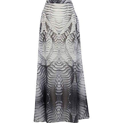 Grey Georgia Hardinge printed maxi skirt - maxi skirts - skirts - women