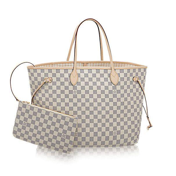 Neverfull GM - Damier Azur Canvas - Handbags | LOUIS VUITTON