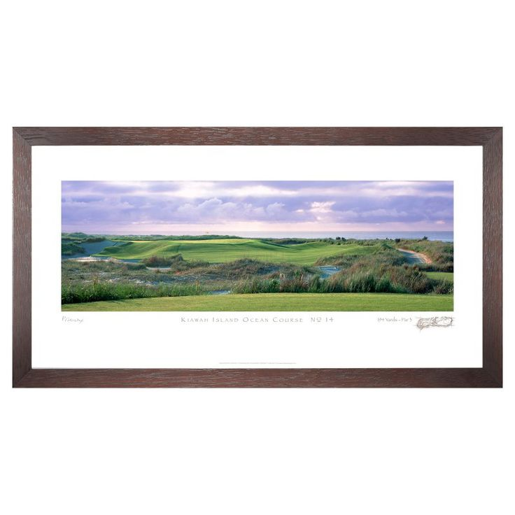 Stonehouse Framed Prestige Edition Wall Art -- Famous Golf Courses - KIAOC14P