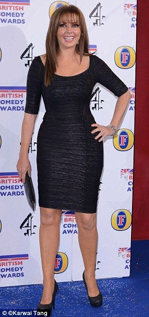 Here she is: Carol Vorderman joined a host of stars at the annual event on Thursday evening