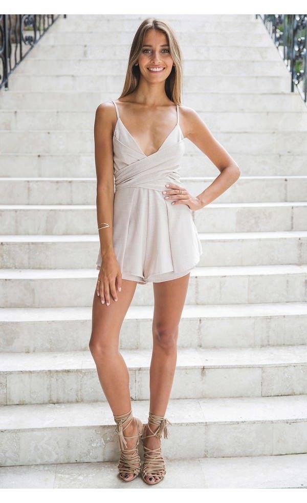Cruz Romper Beige - White Fox The Label - Clothing