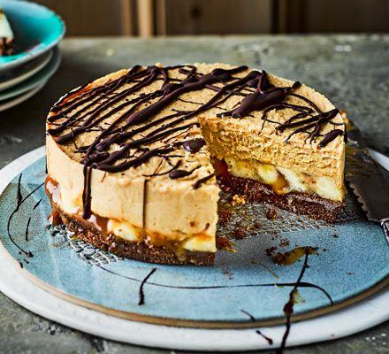 Salted caramel banana butterscotch pie