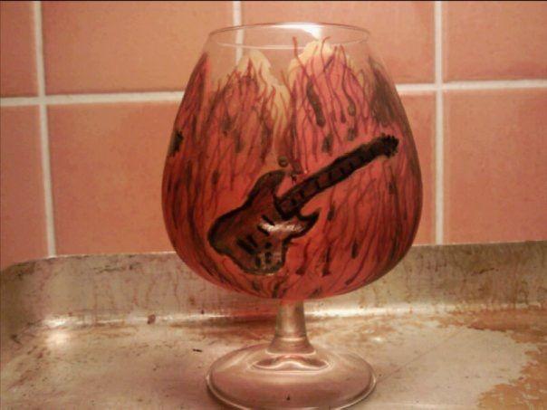 Gitarrtema på glas