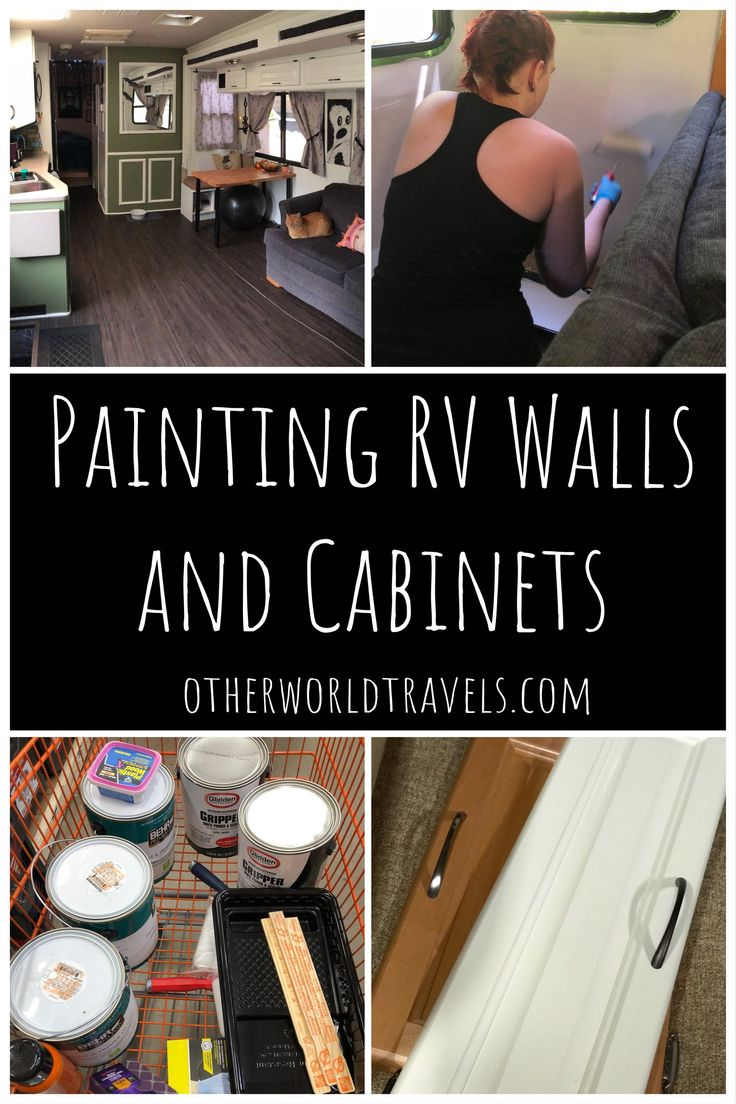 RV Remodel: Painting RV Wall and Cabinets