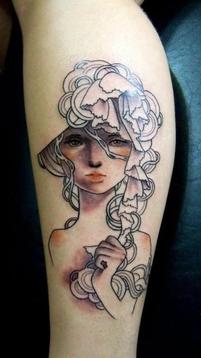 LADY RAH / Alexandre Raissa  Natal, Brazil  Xtreme Tattoo e Piercing Facebook  Phone: +55 84 3086-3784  Email: xtremebodyart@hotmail.com  Adapted from an Audrey Kawasaki painting.