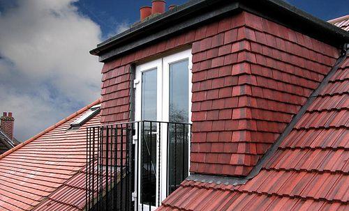 French Doors In Dormer Roof And Juliet Balcony Attic