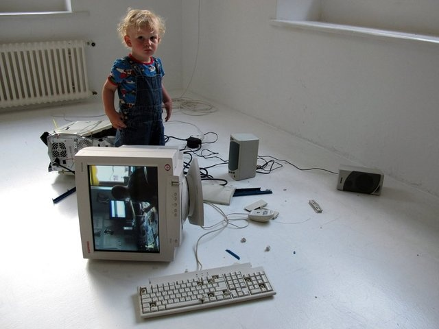 Eva and Franco Mattes - My Generation, 2010  Video collage, broken computer
