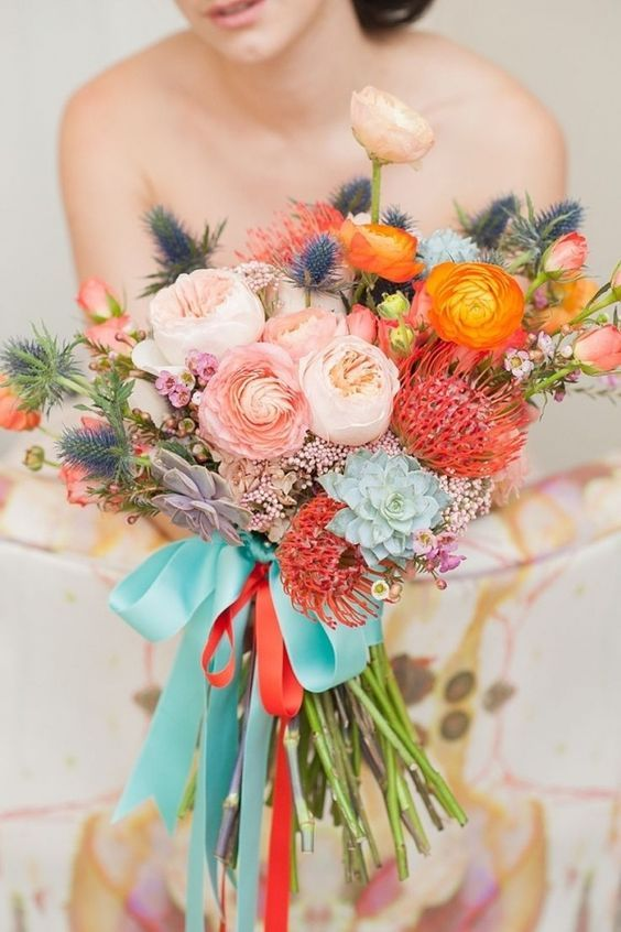 Stunning whimsical wedding bouquet; Featured Photographer: Mikkel Paige