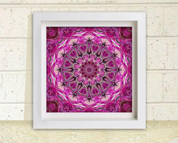 Hot Pink Mandala Printable Wall Art DIY Wall Decor by StudioArt108, $5.50