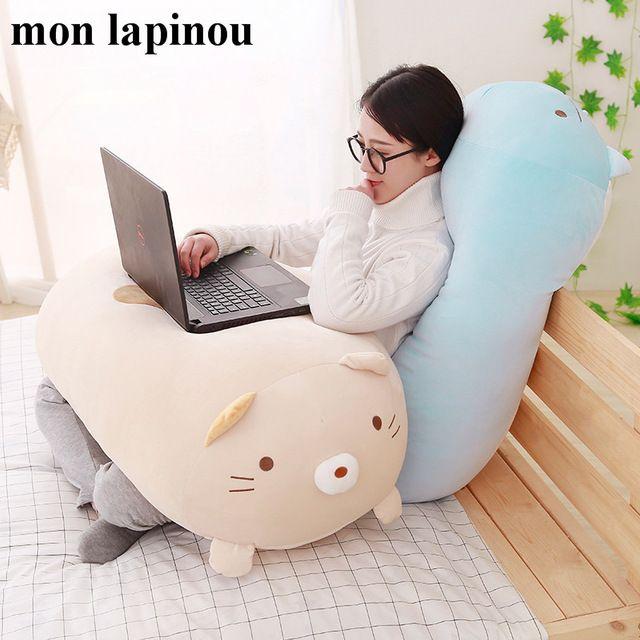 90cm 60cm 28cm Japanese Anime Sumikko Gurashi Plush Toys Corner Bio Throw Pillow Big Toys Bear Cartoon Doll Girls Birthda Baby Pillows Cute Pillows Kawaii Room