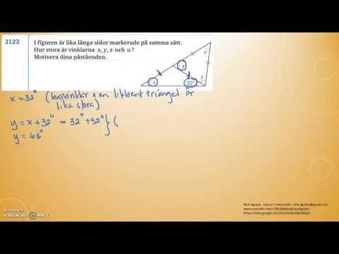 Matematik 5000 Ma 2a   Kapitel 3   Geometri   Yttervinkelsatsen (3124 - ...