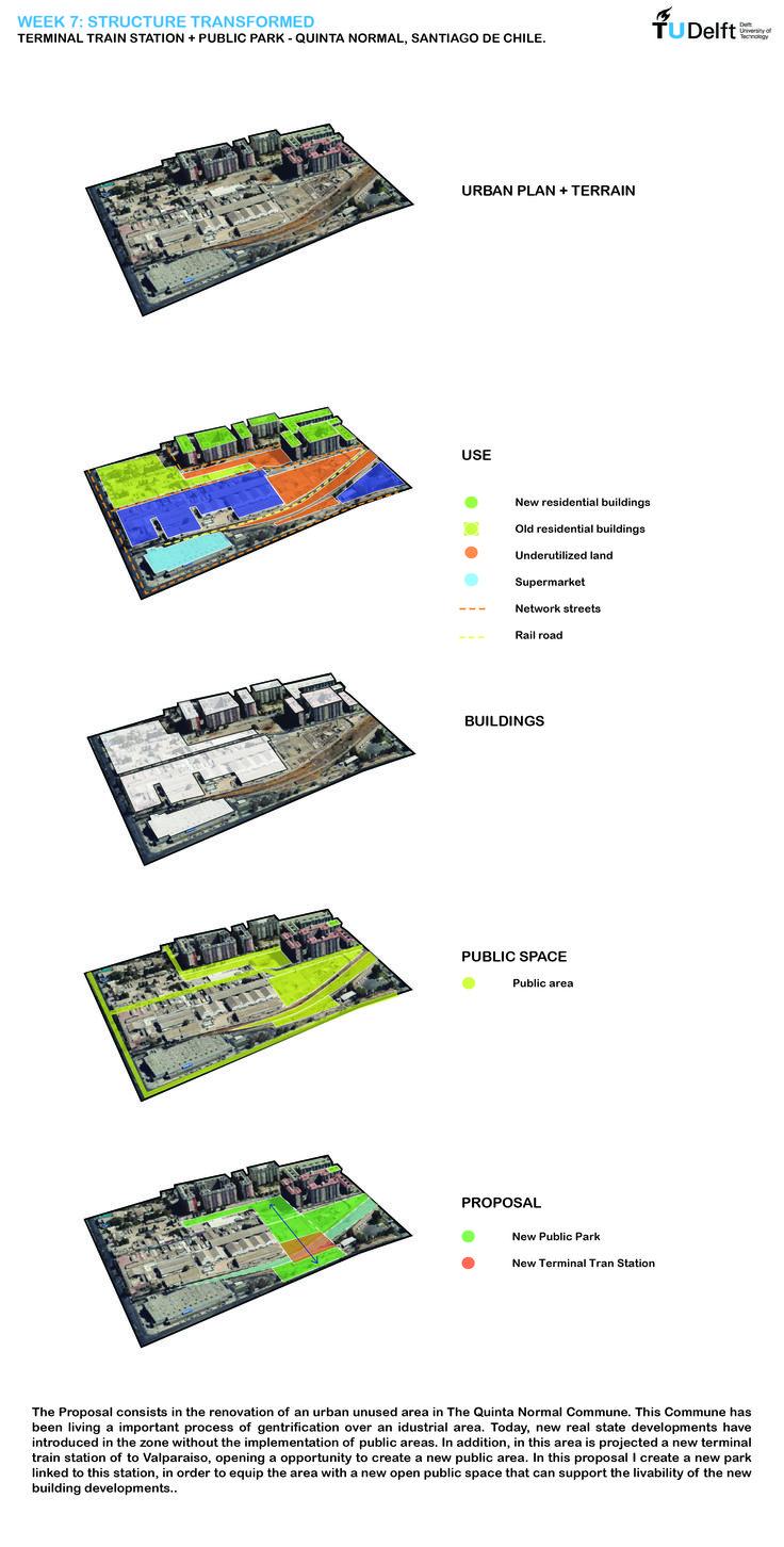 Week 7: Structure transformed. A proposal for The Quinta Normal Commune. Santiago de Chile.