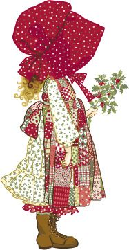 Holly Hobbie. I had a Holly Hobbie doll and if you tugged her braids her eyes opened or closed.