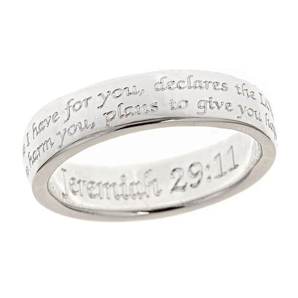 Jeremiah 29:11 Silver Ring-- this ring makes a great graduation gift!