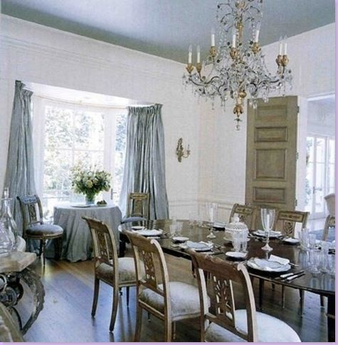 The Blue Dining Room Is Most Gustavian Feeling In House Though There