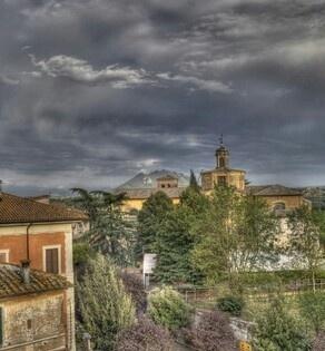 Il monte Soratte da Civita Castellana, Viterbo