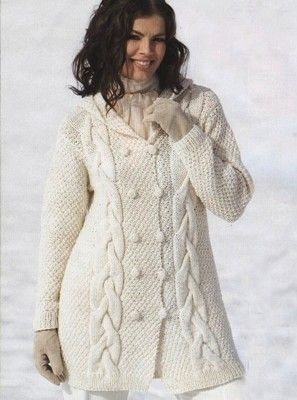 пальто спицами