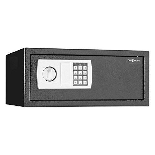 oneConcept Hotelguard – Coffre-fort avec serrure électronique pour ordinateur portable 17″ (capacité 27,9L, code verrou 8 chiffres,…