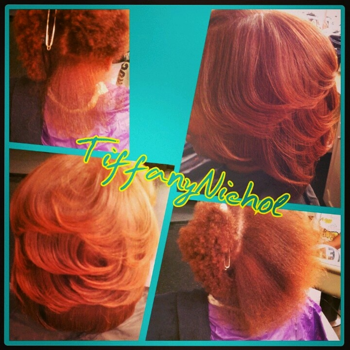 Silk Press With Color On Natural Hair Natural Hair