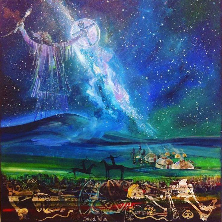 Turan Macar sanatçı Júlia David'in çalışması  Dávid Júlia képe