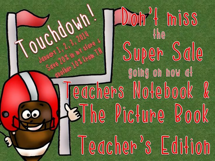 Super Sale at Teachers Notebook and The Picture Book Teacher's Edition