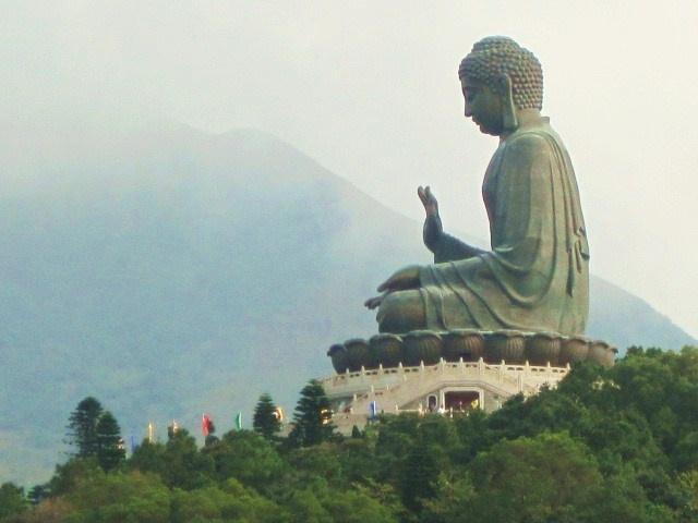 Giant Buddha and Po Lin Monasteryon the Ngong Ping plateau