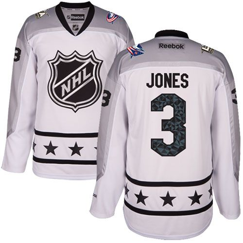 Men's Blue Jackets #3 Seth Jones White 2017 All-Star Metropolitan Division Stitched NHL Jersey