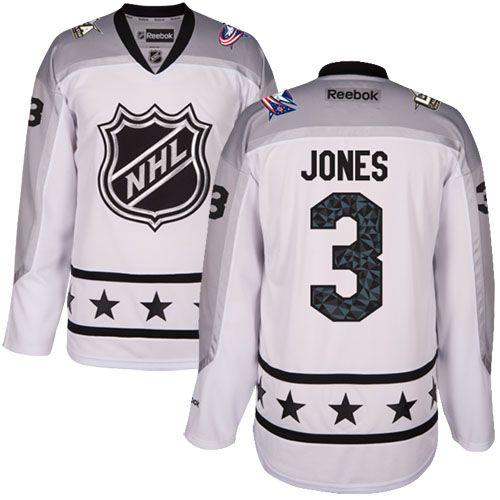 Men's Blue Jackets #3 Seth Jones White 2017 All-Star Metropolitan Division Stitched NHL Jersey