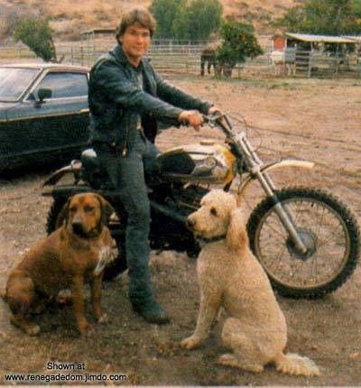 Patrick Swayze and his two dogs,