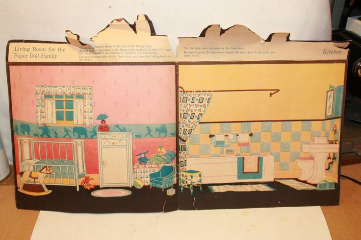 The Paper Doll Family...And Their House 1934 Paper Doll House Book | Dolls & Bears, Paper Dolls, Vintage | eBay!