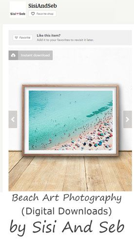 Gray Malin inspired prints for sale on Etsy. Download digital files of aerial beach photography from Sisi and Seb.