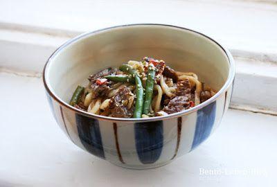 Bento Lunch Blog: Rezept: Gebratene Udon in 5-Gewürze-Hoisin-Soße