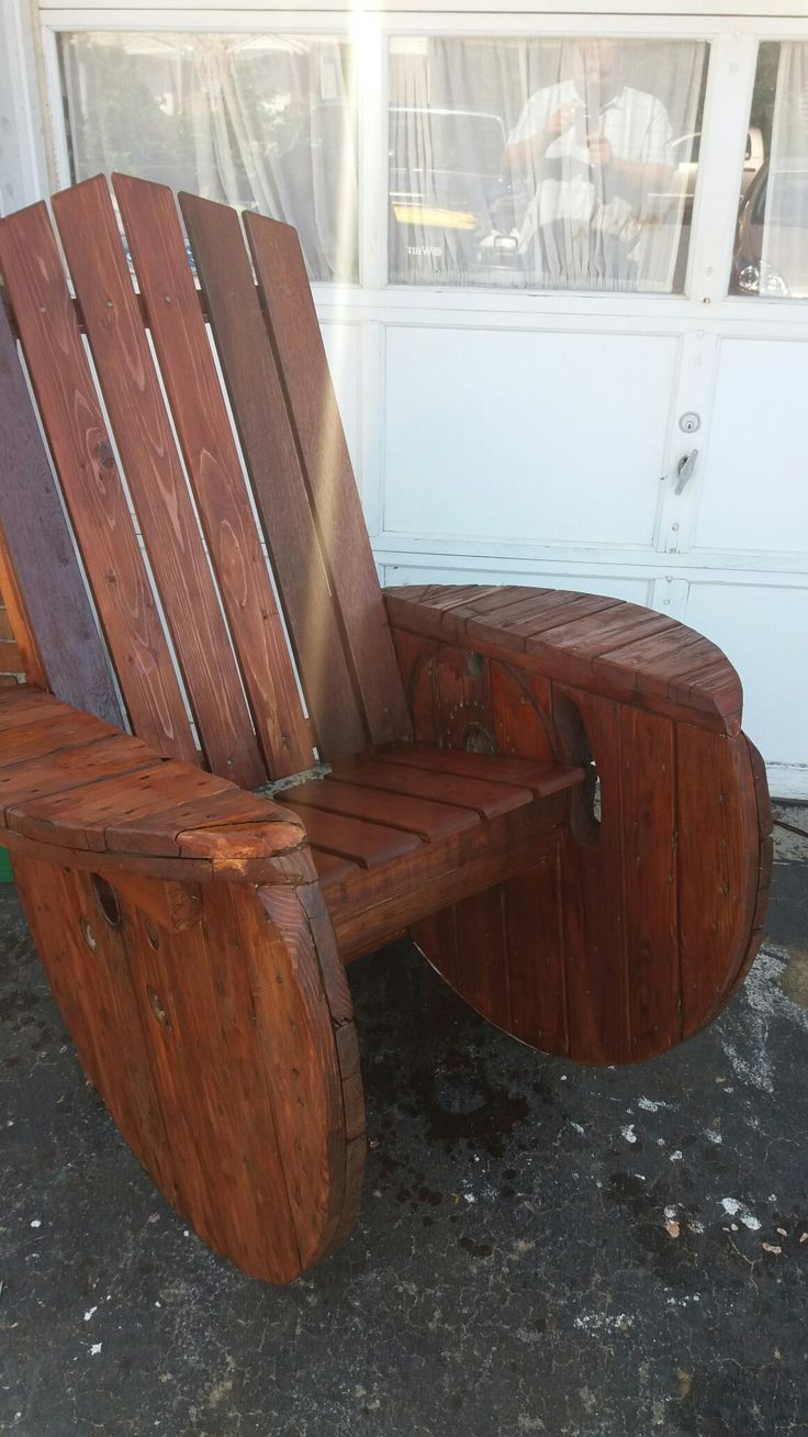 Step 2 rocking chair - Wire Spool Adirondack Rocking Chair Upcycle