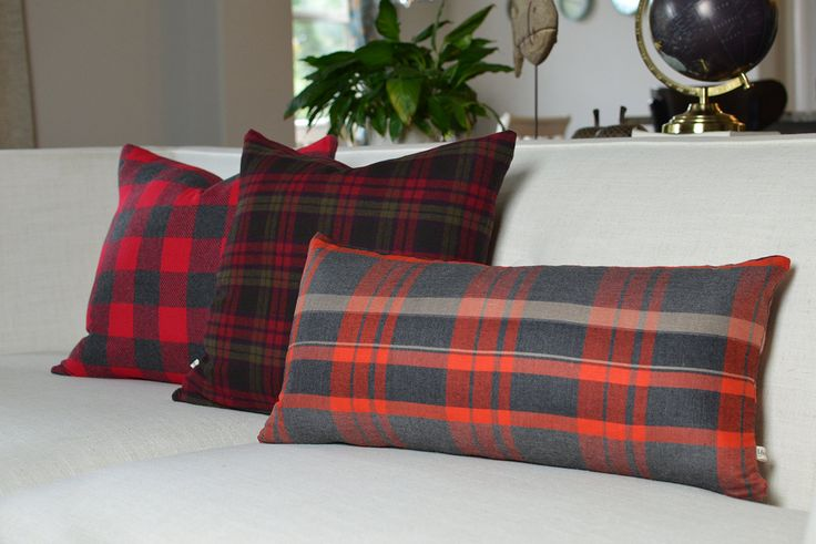 Soft Plaid Pillow, Rustic pillow cover , Fall collection - CUSTOM SIZES available by DesignsbyYarinda on Etsy https://www.etsy.com/listing/467768380/soft-plaid-pillow-rustic-pillow-cover