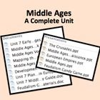 $12.40 Complete unit for middle school World History on the Middle Ages.  Covers the changes from the Middle Ages to the Renaissance, including the Crusad...