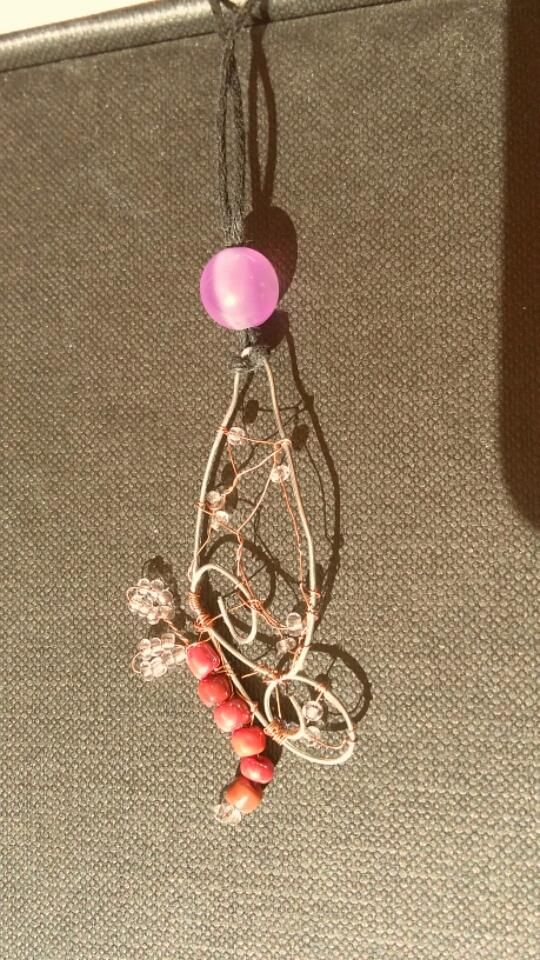 wire butterfly with beads