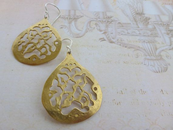 Tears of Love  Brass Handmade Earrings by GeorgiaCollection, €28.50
