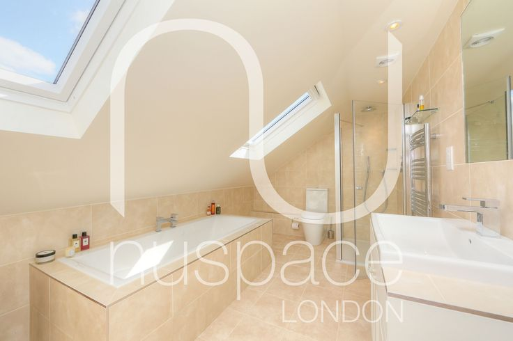 l-shaped dormer loft conversion in Fulham. #nuspacelondon #loftconversionlondon #bathroom