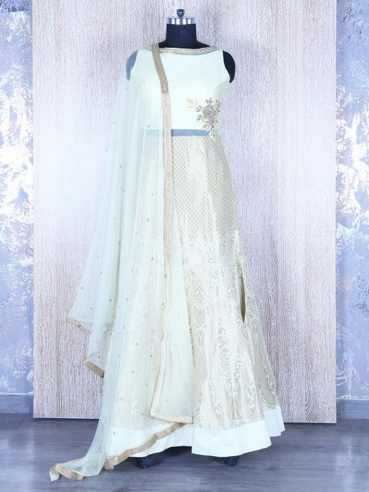 Shop Light green silk designer anarkali suit online from G3fashion India. Brand - G3, Product code - G3-WSS20258, Price - 11600, Color - Green, Fabric - Silk,