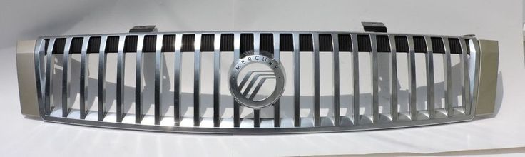 2005 2006 2007 Mercury Montego Front Grille 5T5X-8200-A With Emblem Silver OEM #Mercury