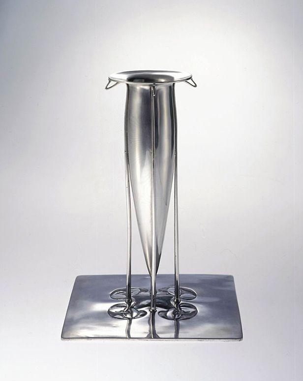 "Archibald Knox (Manx, 1864-1933), ""Cymric"" Silver Vase."