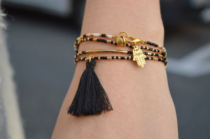 The Camelia - Blog mode, DIY, voyages: DIY - Bracelets fins en perles de rocaill...